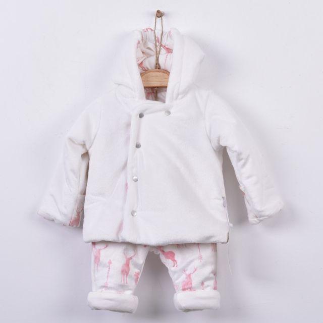 Sevira Kids - Combipilote 2 Pièces - Manteau à capuche avec Pantalon - Ensemble  bébé en 0962b41bbcf