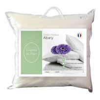 Comptoir du linge - Cdloso65 Oreiller Albany Garnissage Polyester Blanc 65 X 65 X 10 Cm - Cdloso65