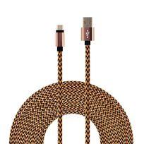Hobby Tech - Câble tressé Nylon 3 mètres Usb-c vers Usb 2.0 - Or