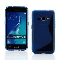 Lapinette - Coque Gel Vague S Pour Samsung Galaxy J1 2016 - Bleu
