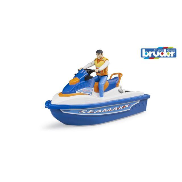 Bruder 63150 Figurine pilote avec Jet ski