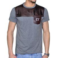 Distinct By Rohff - En Solde - Distinct - T Shirt Manches Courtes - Homme - Vrai - Gris