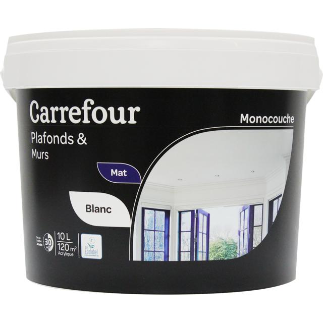 Carrefour Peinture Murs Et Plafonds Monocouche Mat 10 L