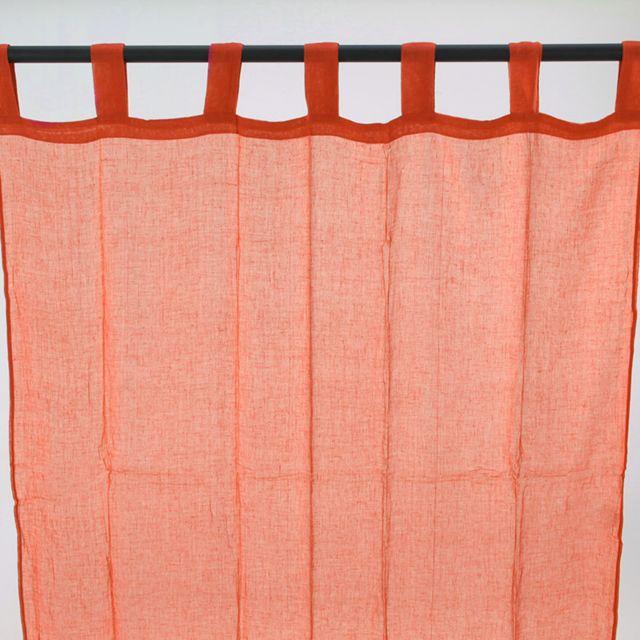mon beau tapis voilage premium pattes 110x250cm orange pas cher achat vente voilage. Black Bedroom Furniture Sets. Home Design Ideas