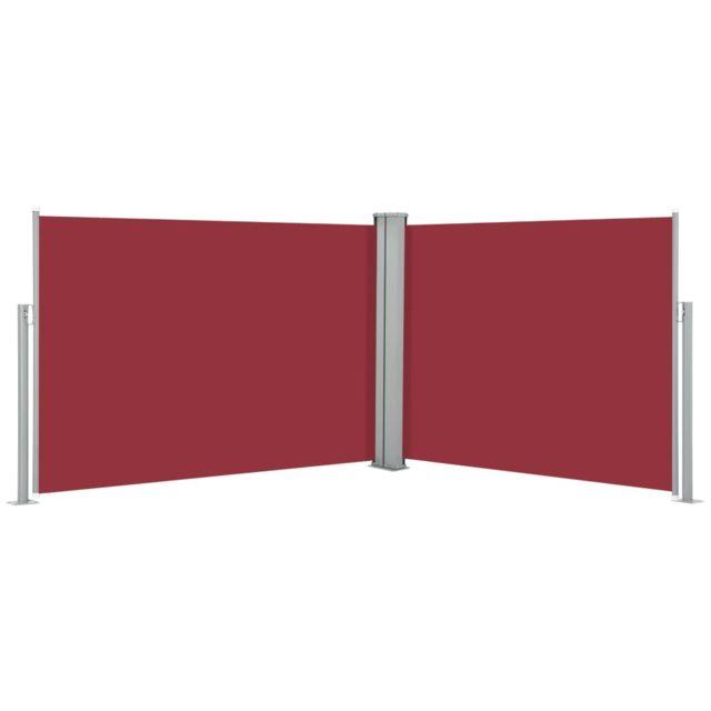 Vidaxl Auvent latéral rétractable Rouge 100 x 1000 cm