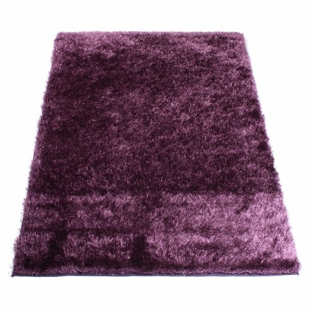 matin calin tapis shaggy aubergine 50 x 80 cm prune pas cher achat vente tapis rueducommerce. Black Bedroom Furniture Sets. Home Design Ideas