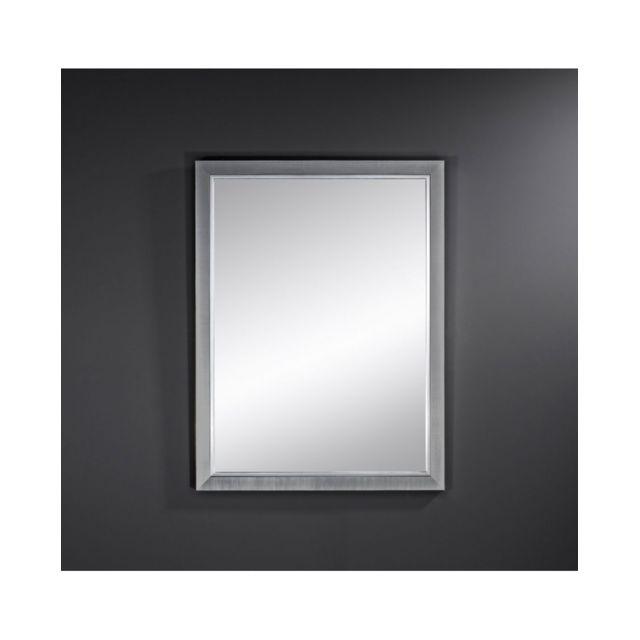 Deknudt Mirrors Miroir Bremen Dark Rectangle Traditionnel Classique Rectangulaire Argenté 58x77 cm