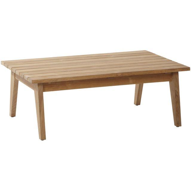 COMFORIUM - Table basse de jardin 110 cm en teck Marron - 110cm x ...
