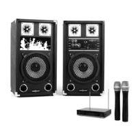 ELECTRONIC STAR - Set sono karaoke 2 x enceinte 2 x micros 45W Rms / 80W max