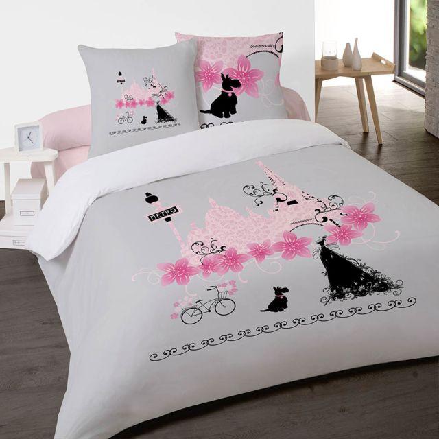 housse de couette sous bois gris 200x200cm vendu par essix 3306162. Black Bedroom Furniture Sets. Home Design Ideas