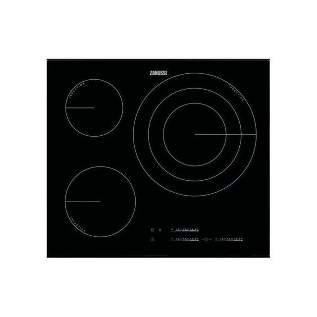 Zanussi Plaque à Induction Zit6375CB 60 cm Noir 3 zones de cuisson