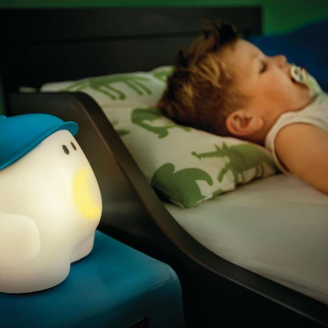 Philips - Buddy - Lampe/Veilleuse/Réveil Bleu H26,6cm - Luminaire enfants designé par