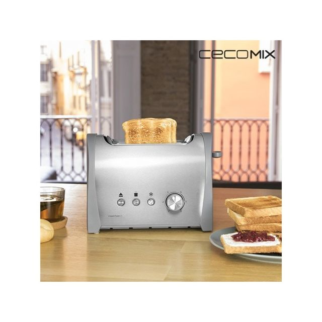 Cecomix - Grille-Pain Steel 2S 3035 800W