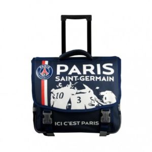 paris saint germain psg cartable roulettes scolaire cole enfant gar on sac dos trolley. Black Bedroom Furniture Sets. Home Design Ideas