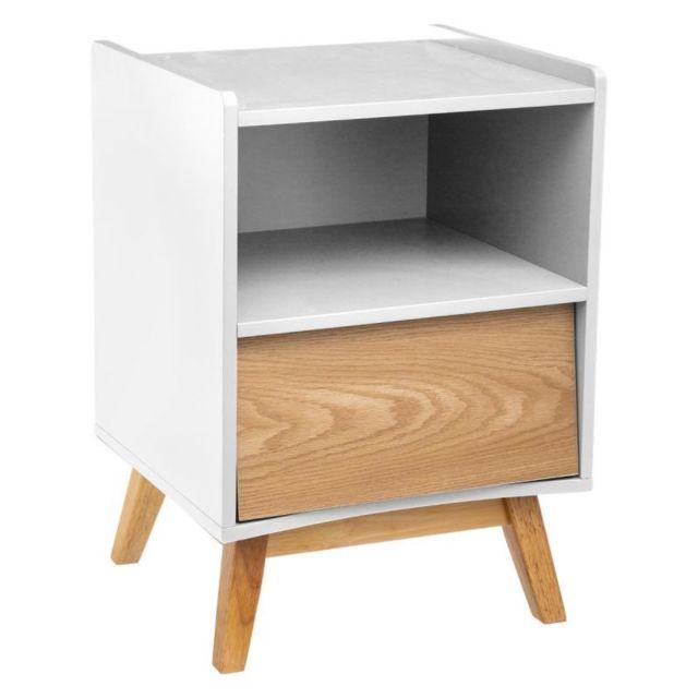 Table de Chevet Design 1 Tiroir \