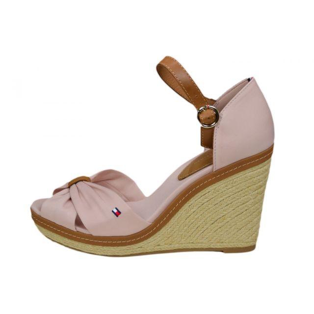 Chaussures compensées Tommy Hilfiger Elena noire pour femme
