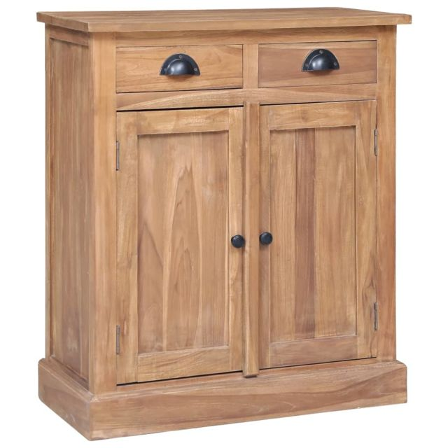 Vidaxl Teck Solide Armoire Latérale 65x30x75 cm Buffet Rangement Salon Chambre