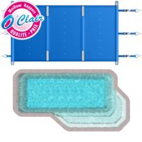 Piscine Center O'CLAIR - Bâche à barres Pool-Barres Plus rectangle pour piscine coque Piscine Provence Polyester Big-Pool Palace A
