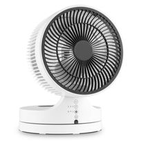 Klarstein - Touchstream Ventilateur de table silencieux Ø 25cm 3 vitesses -blanc
