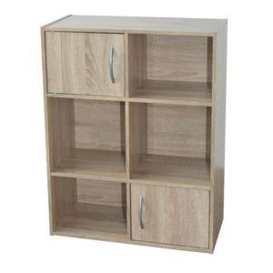 cube 4 cases 2 portes coloris chene compo pas cher achat vente rueducommerce. Black Bedroom Furniture Sets. Home Design Ideas