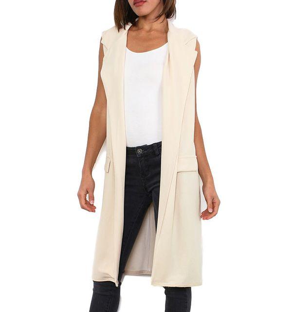 915d5bde8a63 Cendriyon - Gilet long beige Modern Fashion - pas cher Achat   Vente  Blouson femme - RueDuCommerce