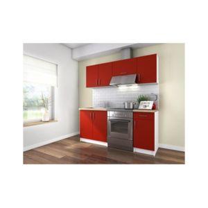 usines discount obi cuisine complete 1m80 rouge mat pas cher achat vente meubles de. Black Bedroom Furniture Sets. Home Design Ideas