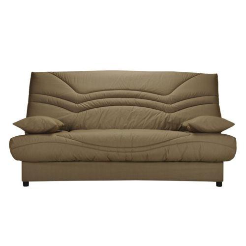 soldes tousmesmeubles banquette lit clic clac matelas hr 130 cm speed tsar n 9 marron. Black Bedroom Furniture Sets. Home Design Ideas