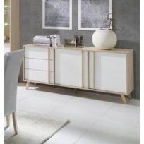 Price Factory - Buffet, enfilade, bahut moyen modèle Malmo blanc. Meuble  design type 865e3952bf37