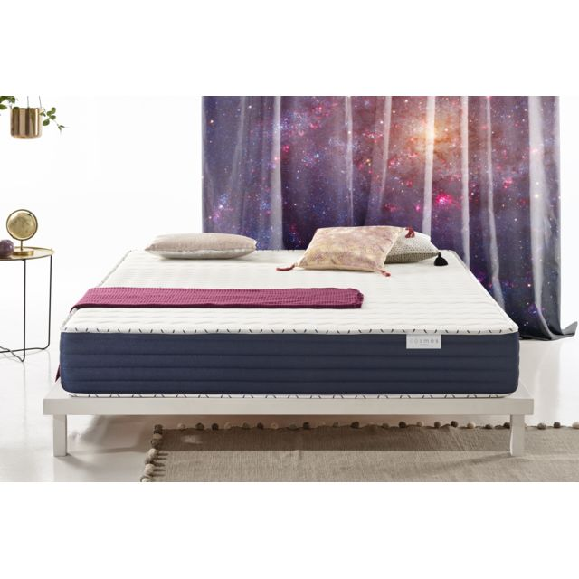 COSMOS Matelas ORBIT 140x200 cm mousse HR ACTIVE LATEX® - mémoire de forme VISCO V90® haute densité - 20 cm