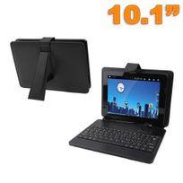 Yonis - Housse clavier universelle tablette tactile 10 pouces support Noir