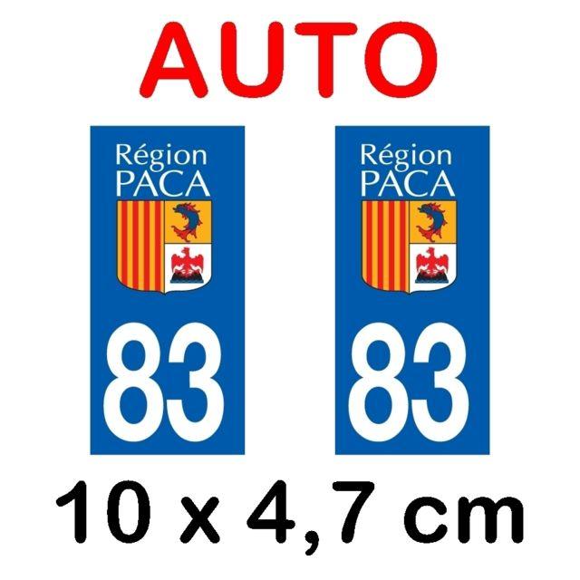 Paire Sticker immatriculation 58 Ni/èvre