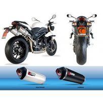 Triumph - 1050 Speed Triple-11/16-PAIRE De Silencieux Echappement Red Power Inox Scorpion-76607039