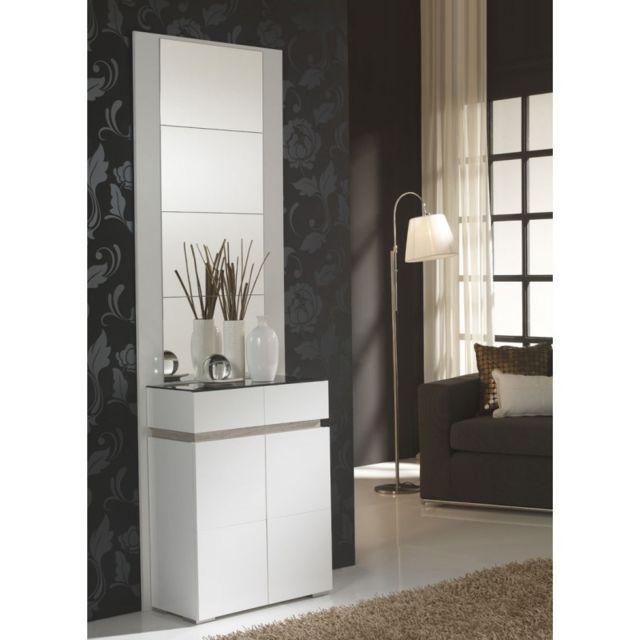 tousmesmeubles meuble dentre blancchne clair miroirs eloe