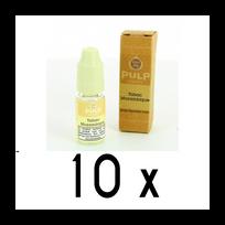 Pulp - Lot 10 e-liquides Tabac Mozambique 12mg soit 4,90 euros le flacon 10ml