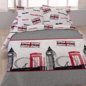 dourev housse de couette 220x240 piccadilly 2 taies 100 coton gris 240cm x 220cm pas. Black Bedroom Furniture Sets. Home Design Ideas