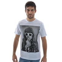 Spital Fields London - Tee shirt kurt smoke coton blanc