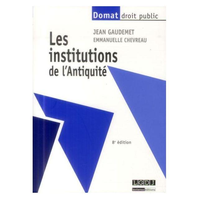 Lgdj les institutions de lantiquit 8e dition chez rue du - Frais de port gratuit rue du commerce ...