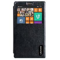 Usams - Etui rabat latéral noir Nokia X2 de série Merry Preview