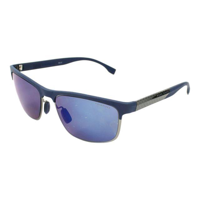 3293ce0f5b4cb8 Hugo Boss - Boss-0835-S Ilg 5X Bleu foncé - Gunmetal - Lunettes de soleil -  pas cher Achat   Vente Lunettes Tendance - RueDuCommerce