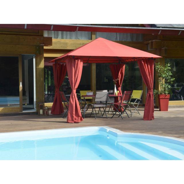 pergolas rouge achat vente de pergolas pas cher. Black Bedroom Furniture Sets. Home Design Ideas