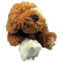 AUBRY GASPARD - Peluche chien en acrylique brun