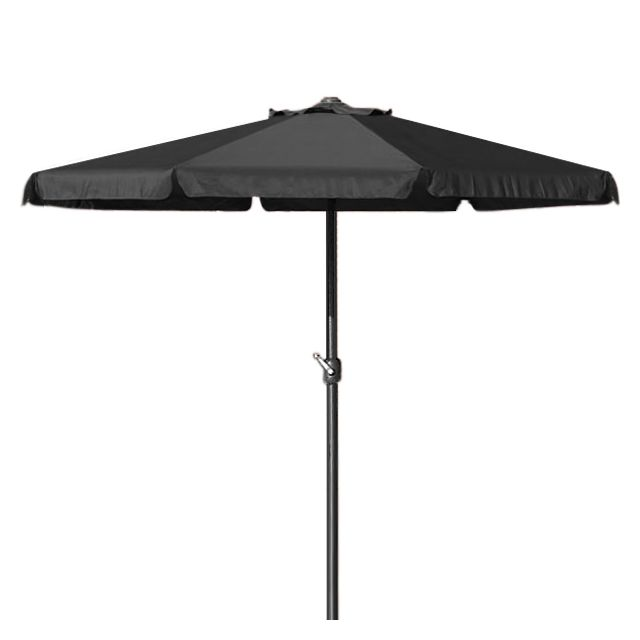rocambolesk superbe parasol 350cm avec manivelle jardin terrasse noir neuf pas. Black Bedroom Furniture Sets. Home Design Ideas
