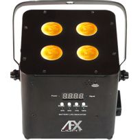 Afx - Light Freeparquad Bk Projecteur à led sur batterie