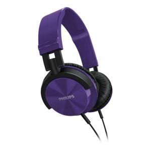 PHILIPS - Casque Arceau - DJ style - Violet