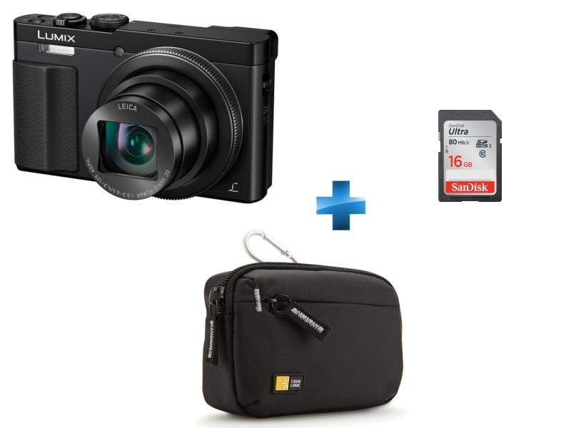 Pack Amateur TZ70 + Carte SDHC Ultra 16 Go + Housse en nylon noir Case Logic