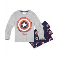 Marvel Comics - Deviens toi aussi un super héros en portant ce joli pyjama Avengers Pantalon avec taille élastique Superbe motif Jersey 100% coton Pyjama Avengers