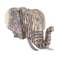 Cardboard Safari - Tête Eléphant en Carton Recyclé New York - Taille M