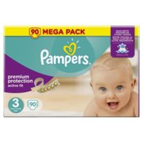Pampers - Active Fit Taille 3, 4 a 9 kg 90 couches