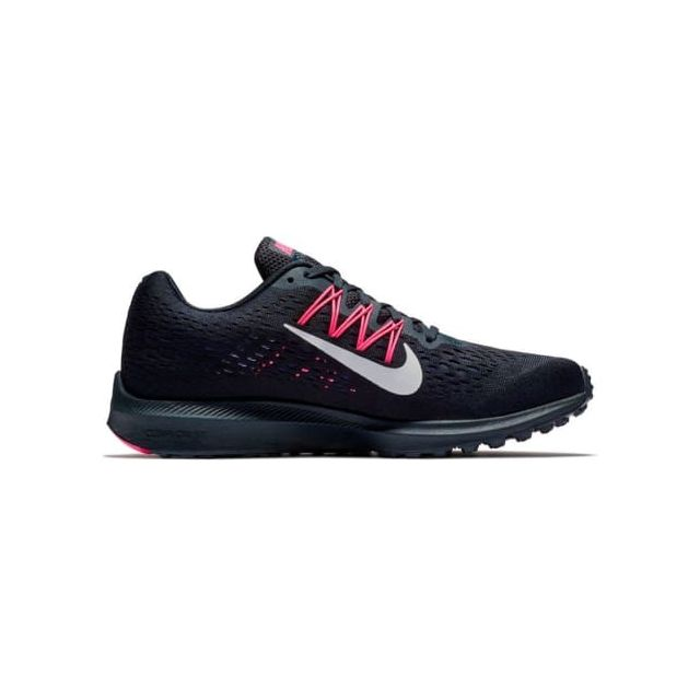outlet store sale f55a9 cde71 Nike - Chaussures Nike Air Zoom Winflo 5 bleu foncé gris rose femme