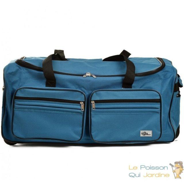 2bb2bba2b3 Le Poisson Qui Jardine - Sac de voyage 85 litres - 70 cm Bleu avec roulettes